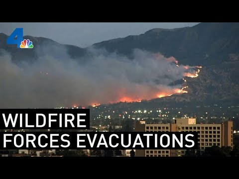 Watch Live: Saddleridge Fire Burns North Of LA