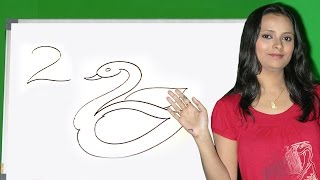 How to draw a numbers in Tamil | Easy step by step drawing for kids | Easy numbers drawing