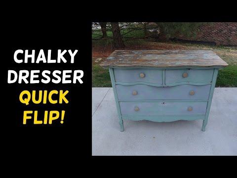 Old Chalky Dresser Makeover!