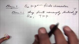 Mod-01 Lec-11 Maximally Consistent Sets