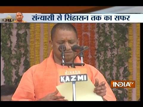 Yogi Adityanath takes oath as Chief Minister of Uttar Pradesh