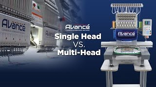 Commercial Embroidery Machine Webinar | 1501C Single Head vs 1506C 6 Head Machines