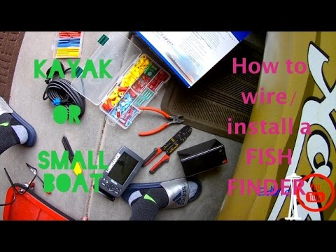 Garmin 4 Pin Transducer Wiring Diagram Aswc 1 How To Install Fish Finder On Your Kayak Youtube