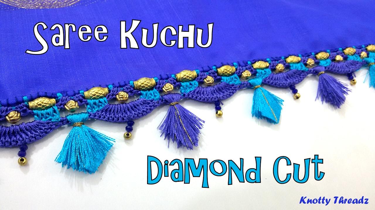 Stream How To Make Saree Kuchu Diamond Cut Design Using Silk Thread At Home Tutorial 1141