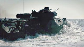 U.S. Marines Amphibious Vehicles Go For A Swim