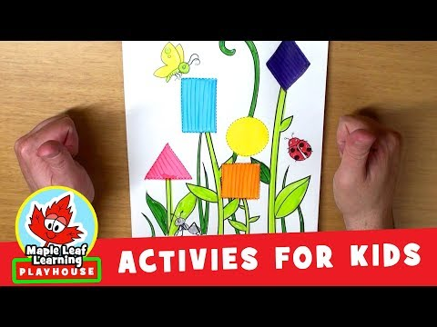 Flower Shapes Activity for Kids | Maple Leaf Learning Playhouse