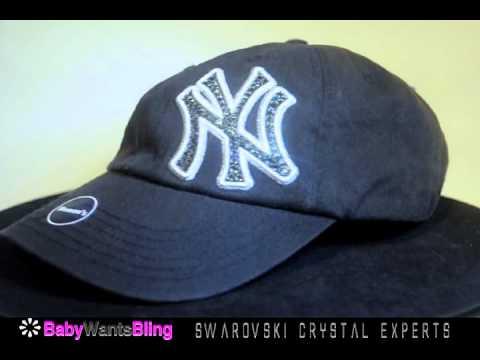 89895d400bd New York Yankees Cadet Swarovski Crystal Bling Rhinestone Hat Cap ...