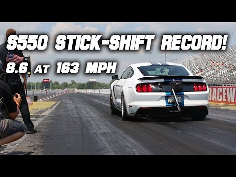 Shelby GT350 Runs 8 Second 1/4 Mile! | S550 Stick-Shift Record!