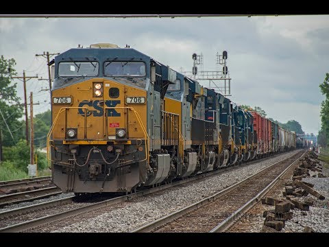 4K - CSX Freight & Amtrak Train Action in Buffalo Depew on the CSX Buffalo Terminal Subdivision