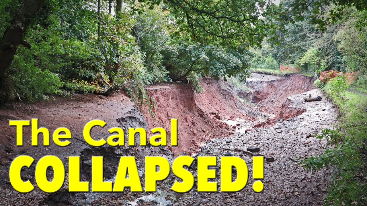 The Day The Trent and Mersey Canal Collapsed!