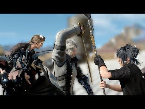 Final Fantasy XV - Ignis, Ravus, Aranea vs. Noctis