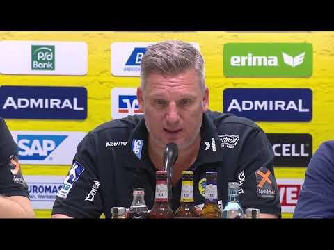 Pressekonferenz nach dem Löwen-Sieg gegen Berlin
