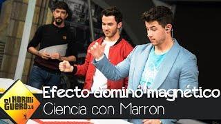 El efecto dominó magnético de Marron impresiona a los Jonas Brothers - El Hormiguero 3.0
