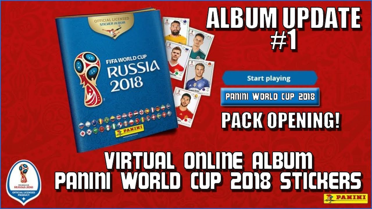 ⚽ PACK OPENING + FREE CODES !! | Panini FIFA WORLD CUP 2018 STICKER ALBUM ⚽  VIRTUAL ONLINE!
