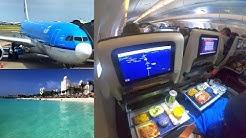 Amsterdam - Aruba KLM Airbus A330-200 New Economy Class (PH-AOA)