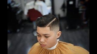 COMB OVER | MID FADE HAIR CUT | BARBER TUTORIAL