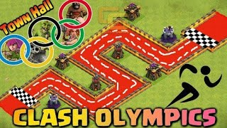 Clash of clans marathon | Olympics | Troops Race | Who's the Fastest ? - Clash