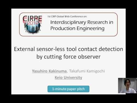External sensor-less tool contact detection by cutting force observer