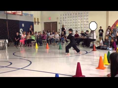 Flash Martial Arts At The Charles Reed Elementary School Talent Show