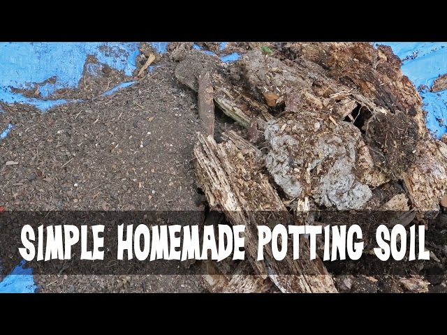 Make Homemade Potting Soil With 3