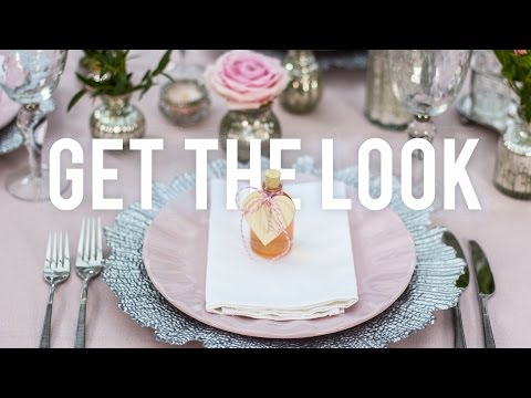 Get the Look: Pink & Silver Table Setting