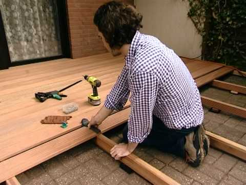 Wooden deck building - Explained step by step