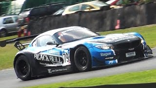 BRUTAL BMW Z4 GT3 Sound - Accelerations, Downshifts & Flybys