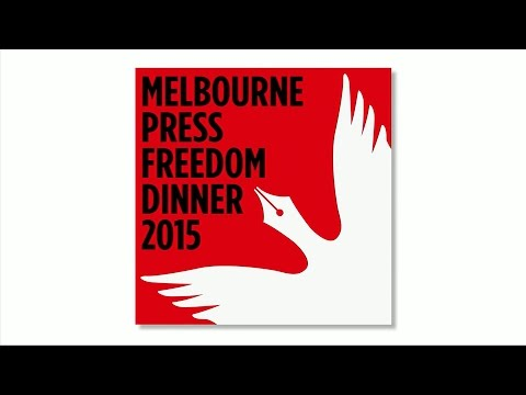 Melbourne Press Freedom dinner