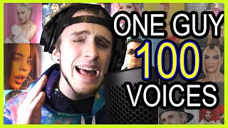 ONE GUY, 100 VOICES (With Music)Billie Eilish, The Weeknd, Doja Cat, etc Famous Singer IMPRESSIONS