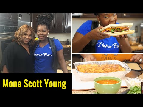 DISHING IT EP 6 Guest Mona Scott Young - Juicy Mac and Cheese, Haitian Meatballs (boulette)