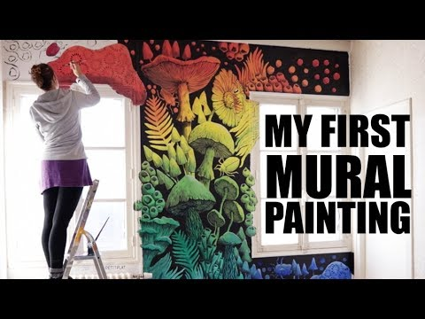My First Mural Painting - Time Lapse Video
