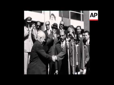CAN 190 SOVIET LEADER KHRUSCHEV ARRIVES TO ALEXANDRIA AND IS