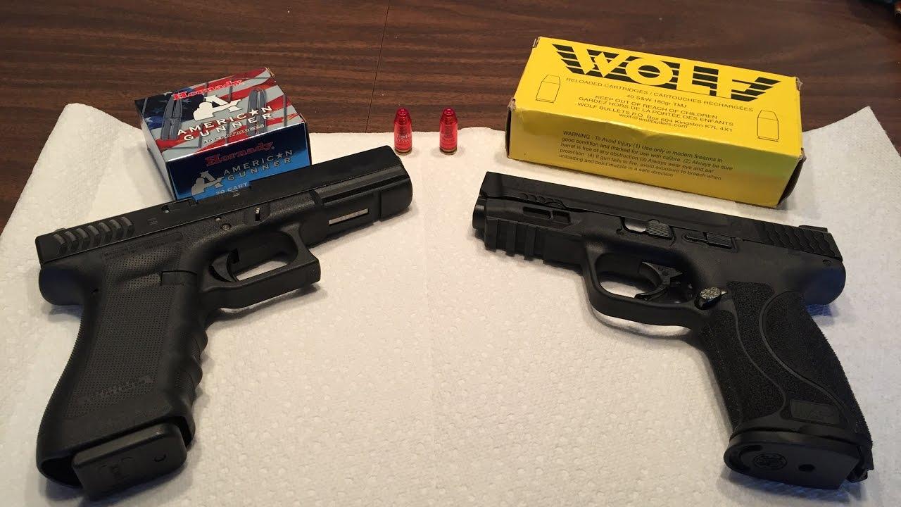 Glock 22 RTF 2 vs M&P M2.0 - YouTube