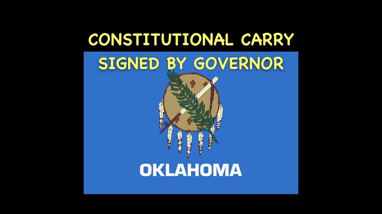 Oklahoma Governor Signs Constitutional Carry Bill