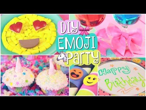 DIY EMOJI PARTY // Unicorn Cupcakes & Easy Decor // SoCraftastic