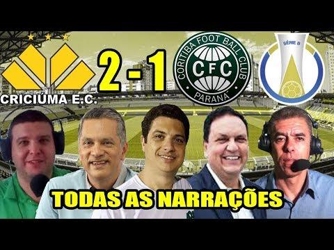 Todas as narrações - Criciúma 2 x 1 Coritiba / Brasileirão Série B 2019