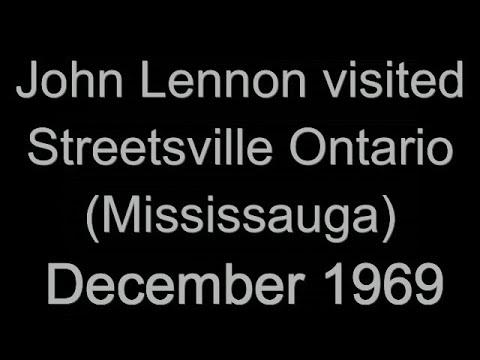 John Lennon in Streetsville Ontario