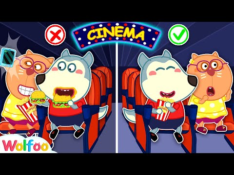 No No, Wolfoo! Don't Sneak Food Into Movie Theater! Kids Good Manners | Wolfoo Channel Kids Cartoon