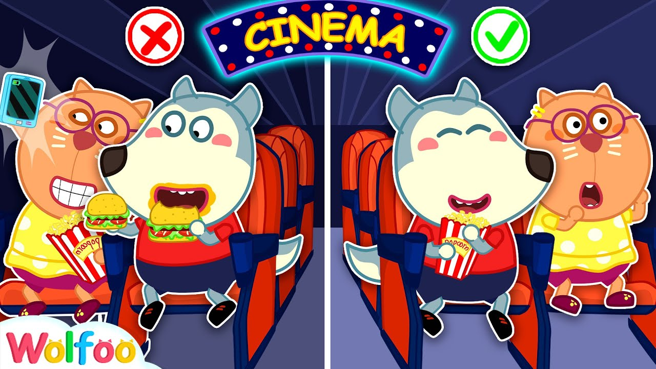 No No, Wolfoo! Don't Sneak Food Into Movie Theater! Kids Good Manners | Wolfoo Channel Kids Car