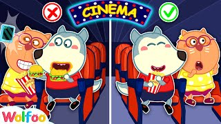 No No, Wolfoo! Don&#39t Sneak Food Into Movie Theater! Kids Good Manners  Wolfoo Channel Kids Cartoon