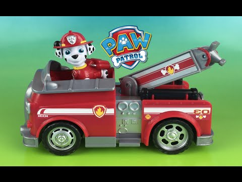 paw patrol marshall and the fire fightin truck fire engine rescue