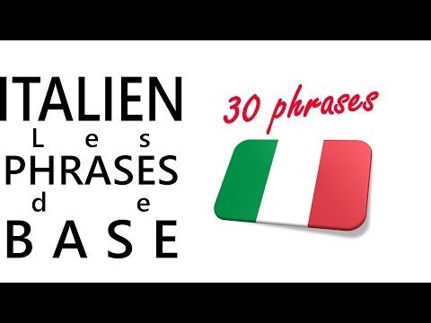 Apprendre l'italien - Les phrases de base
