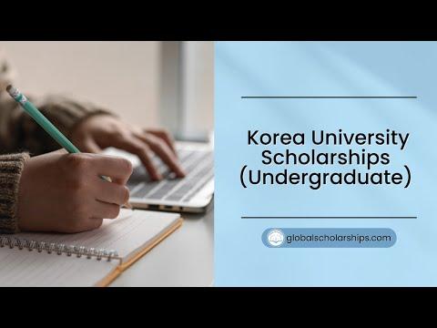 Korea University Scholarships 2019 (Fully Funded