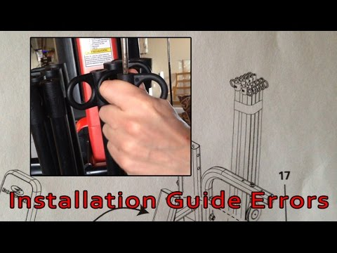 BowFlex PR3000 - Mistakes in the Owner's / Installation Manual - Resolved