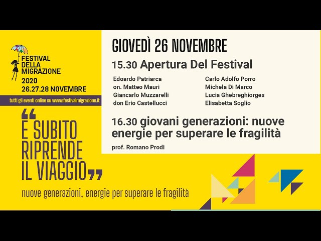 Prima sessione del Festival della Migrazione 2020