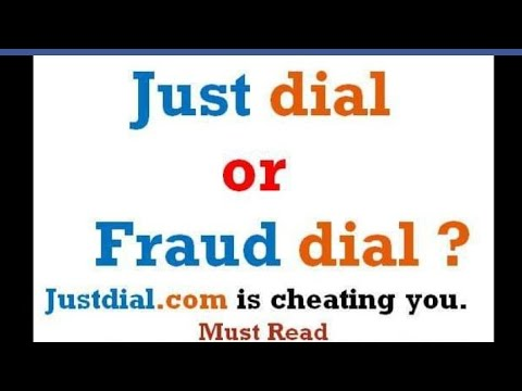 Just dial/fraud dial