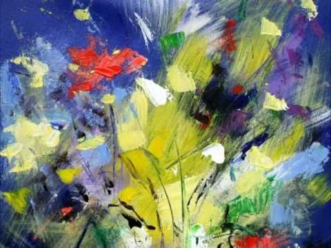 Abstract flower and landscape painting of Mario Zampedroni ...