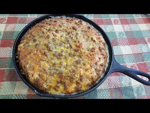Breakfast Casserole - Sausage Egg Biscuit Casserole - The Hillbilly Kitchen