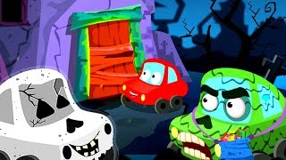 Trick or Treat | Little Red Car Cartoons | Halloween Songs for Kids