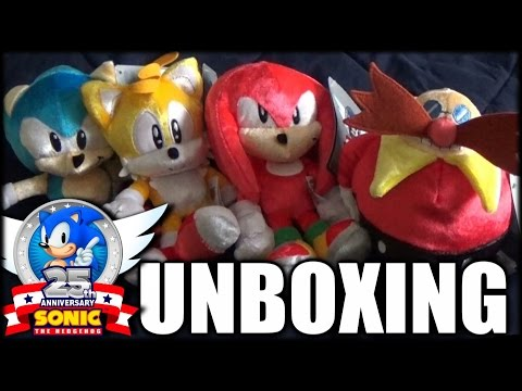 Sonic 25th Anniversary Plush Set Unboxing & Overview! (60 FPS)